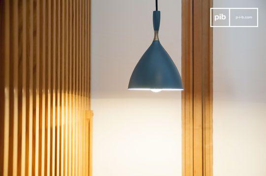 Lámpara colgante Dokka azul petróleo