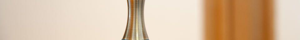 Descriptivo Materiales  Lámpara colgante Dokka azul petróleo