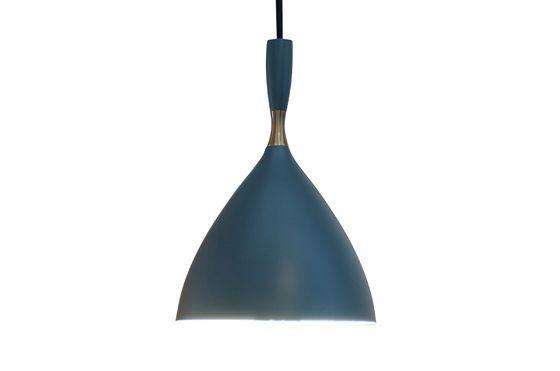 Lámpara colgante Dokka azul petróleo Clipped