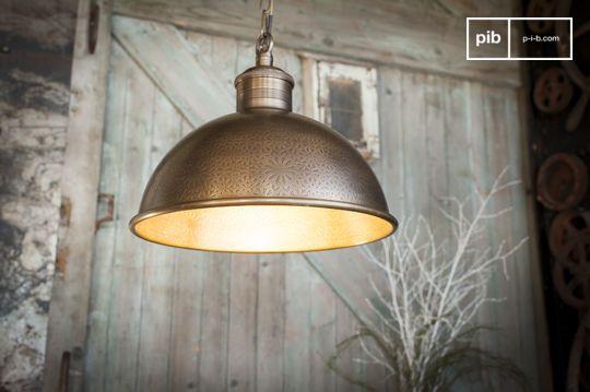 Lámpara colgante en metal tallado Orient Express