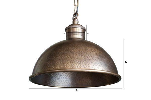Dimensiones del producto Lámpara colgante en metal tallado Orient Express