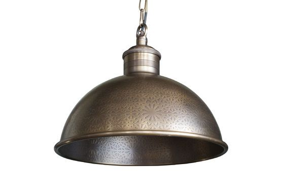 Lámpara colgante en metal tallado Orient Express Clipped