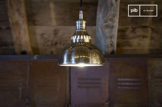Lámpara colgante en plata Olonne