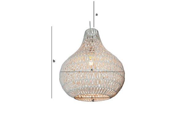 Dimensiones del producto Lámpara colgante Ilma Pallot