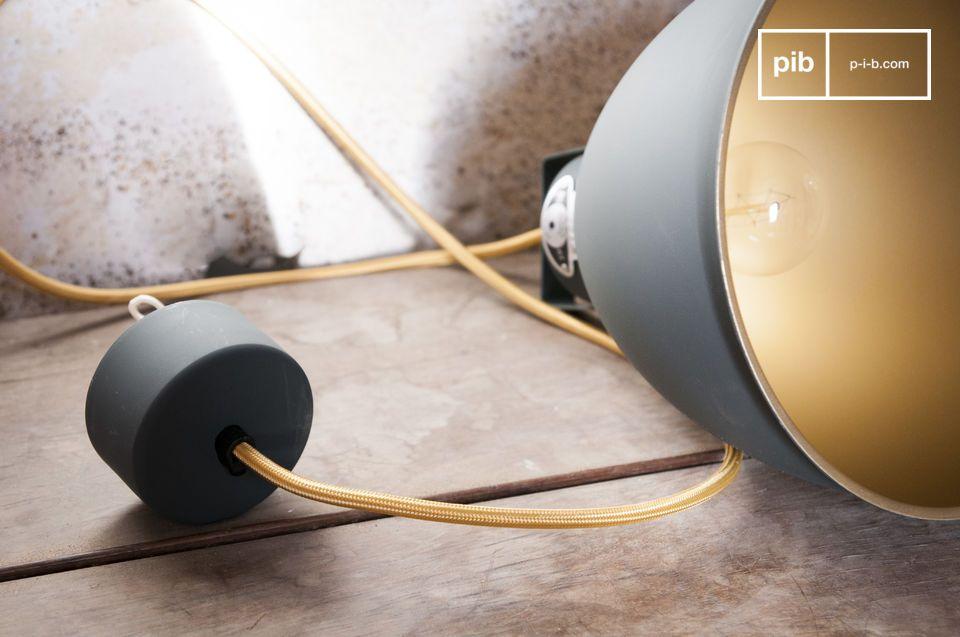 Una lámpara con autentico diseño industrial vintage