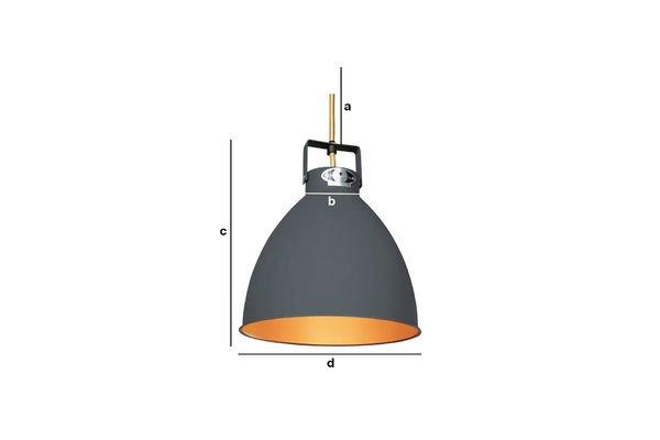 Dimensiones del producto Lámpara colgante Jieldé Augustin de  24 cm