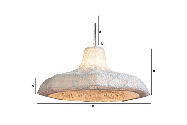 Dimensiones del producto Lámpara colgante Lana