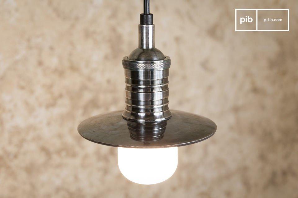 Lámpara colgante abierta de latón plateado