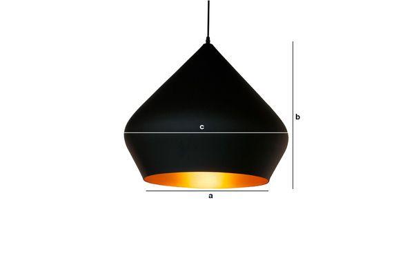 Dimensiones del producto Lámpara colgante negra Liselotte