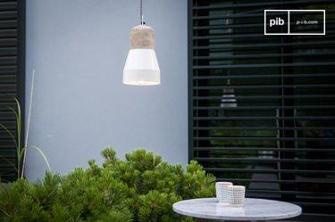 Lámpara colgante Newark color crema