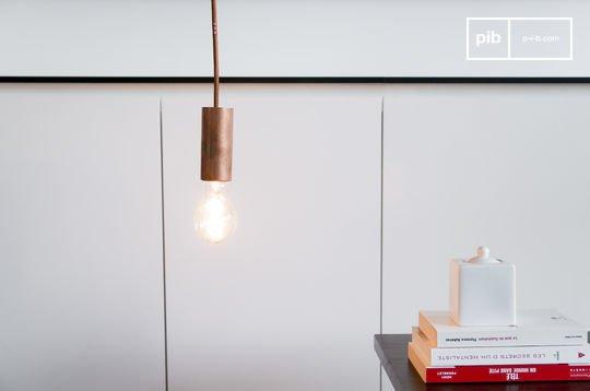 Lámpara colgante NUD de color cobre