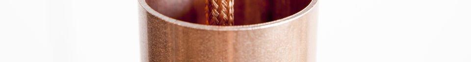 Descriptivo Materiales  Lámpara colgante NUD de color cobre