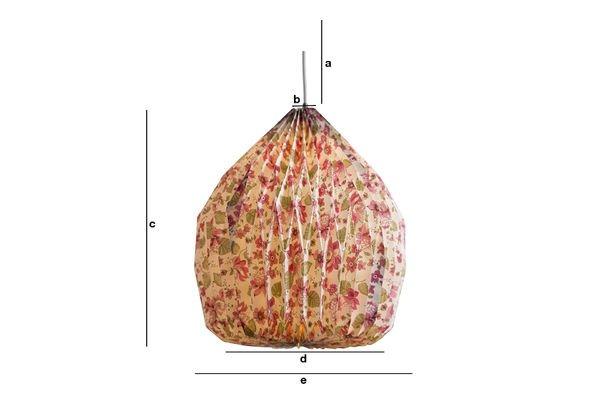 Dimensiones del producto Lámpara colgante Origami