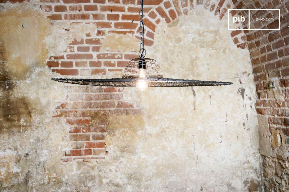 La lámpara colgante Rejilla no se parece a cualquier otra luz