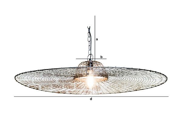 Dimensiones del producto Lámpara colgante Rejilla