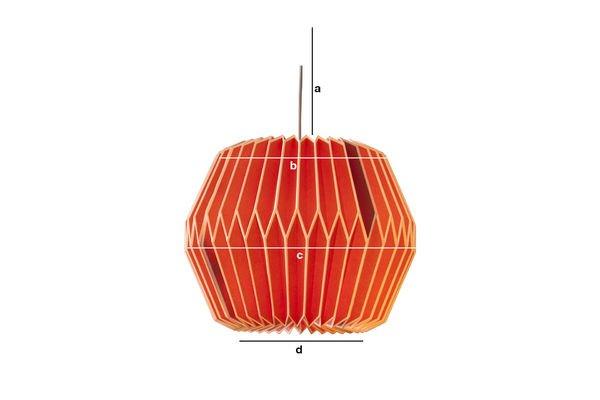 Dimensiones del producto Lámpara colgante roja Hippy