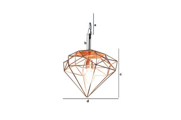 Dimensiones del producto Lámpara colgante Sancy