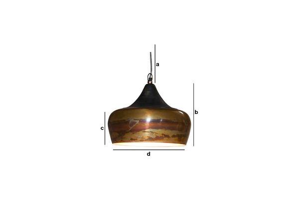 Dimensiones del producto Lámpara colgante Skaal