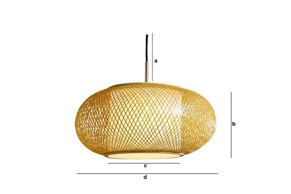 Dimensiones del producto Lámpara colgante Skib