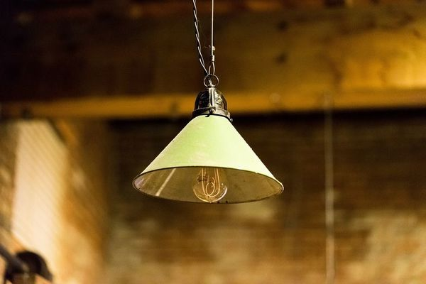 Lámpara colgante verde