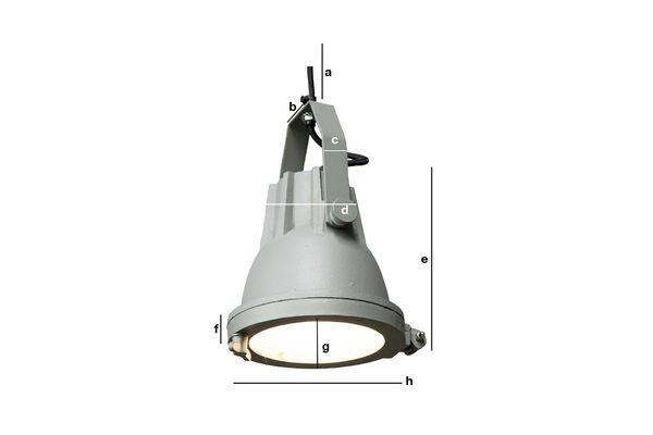 Dimensiones del producto Lámpara colgante Weissmuller
