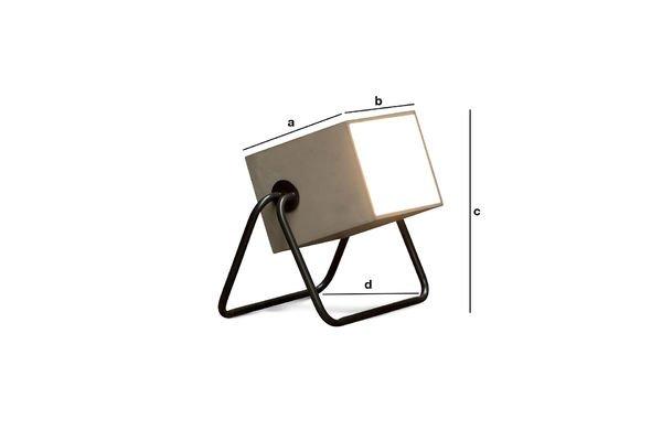 Dimensiones del producto Lámpara Concrete Box