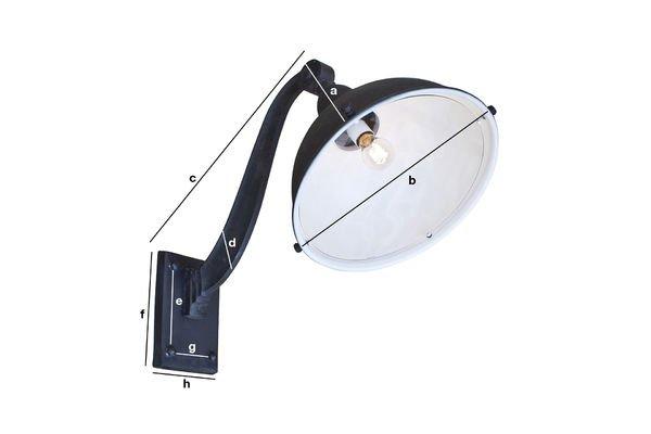 Dimensiones del producto Lámpara de almacén cuello de cisne