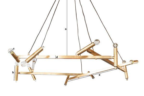 Dimensiones del producto Lámpara de araña grande de latón Izaar