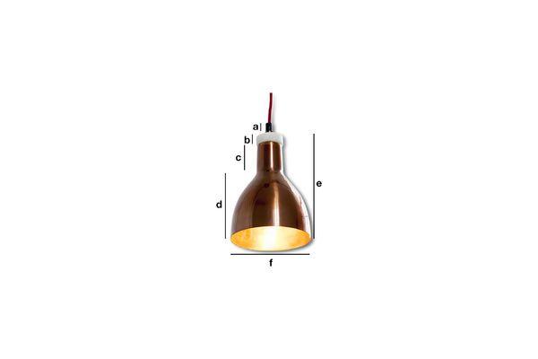 Dimensiones del producto Lámpara de cobre Bidart