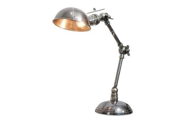 Dimensiones del producto Lámpara de doble brazo plateada