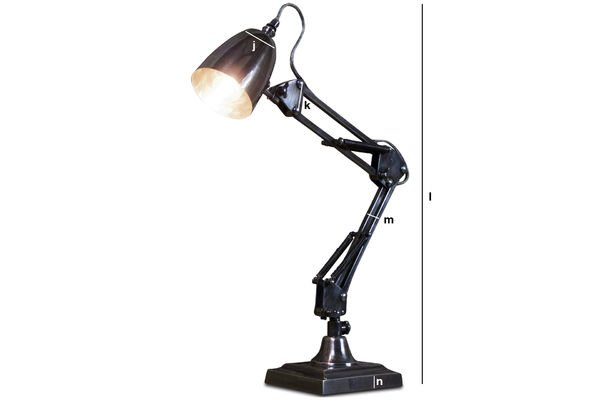 Dimensiones del producto Lámpara de escritorio 1957