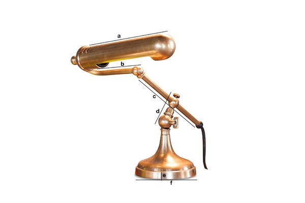 Dimensiones del producto Lámpara de escritorio de latón Stanford
