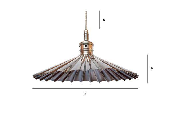 Dimensiones del producto Lámpara de latón colgante Charlotte