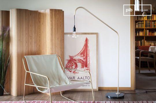 Lámpara de lectura de latón y mármol Mogens