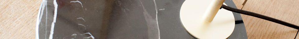 Descriptivo Materiales  Lámpara de lectura de latón y mármol Mogens