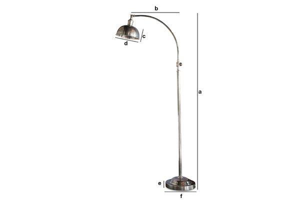 Dimensiones del producto Lámpara de lectura plateada Hossegor
