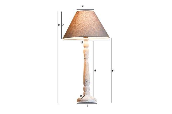 Dimensiones del producto Lámpara de madera Alix
