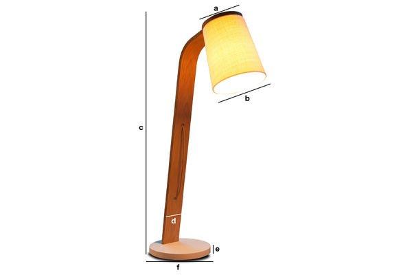 Dimensiones del producto Lámpara de madera Lodge