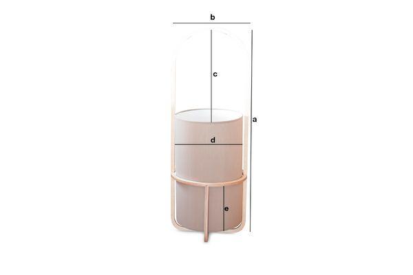 Dimensiones del producto Lámpara de mano Armi