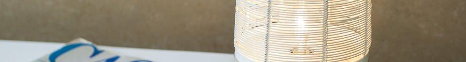 Descriptivo Materiales  Lámpara de mesa Cistella