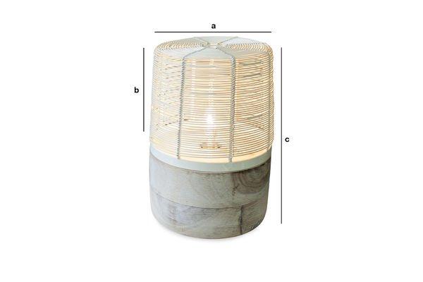 Dimensiones del producto Lámpara de mesa Cistella