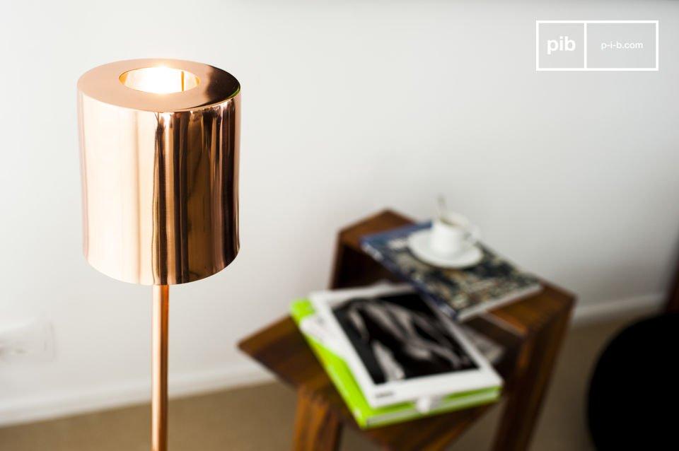 Un diseño de color cobre con todo el estilo nórdico