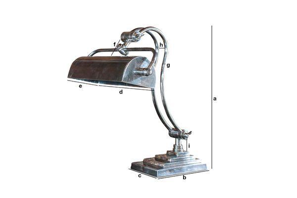 Dimensiones del producto Lámpara de mesa Hedges