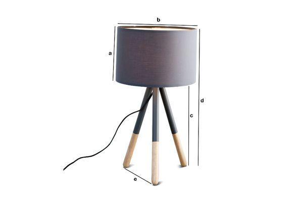 Dimensiones del producto Lámpara de mesa Highland