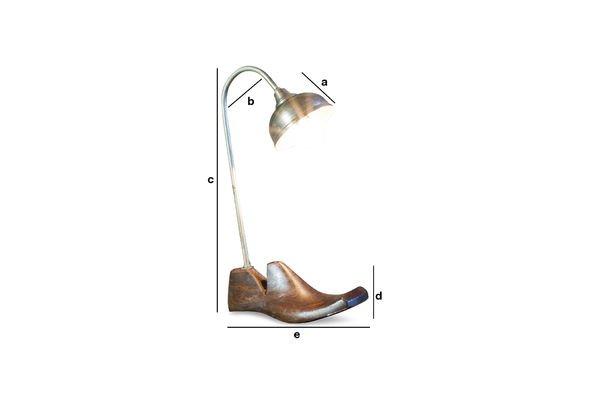 Dimensiones del producto Lámpara de mesa Horma