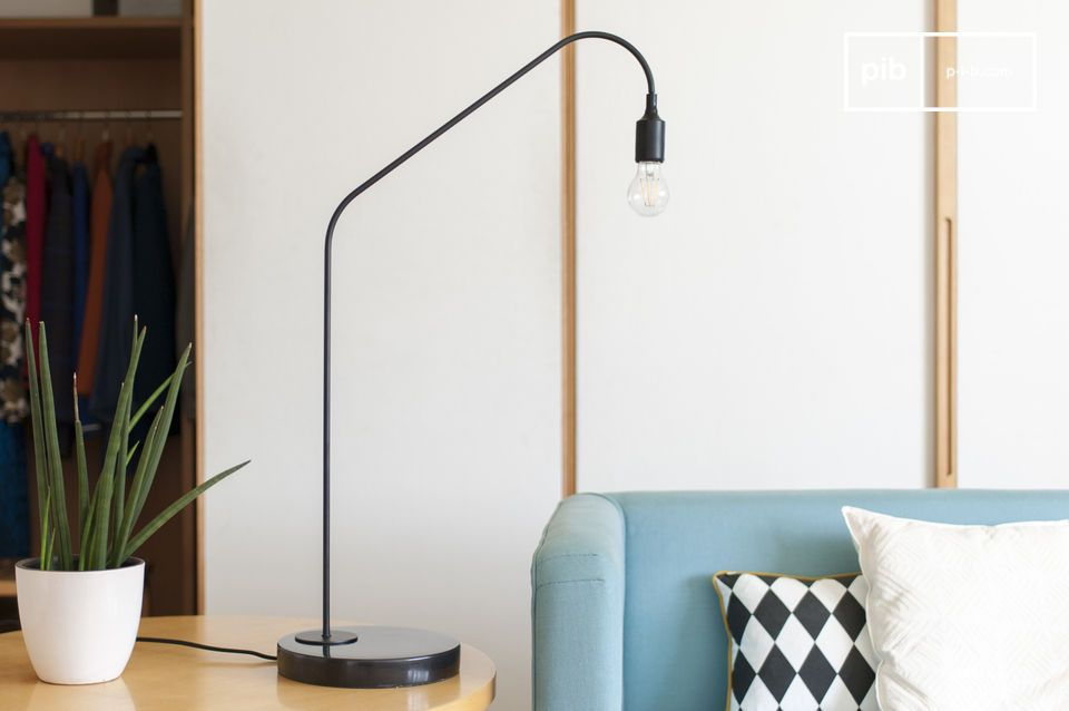 Lámpara de mesa negra Mogens