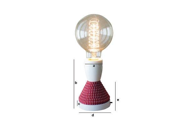 Dimensiones del producto Lámpara de mesa NUD
