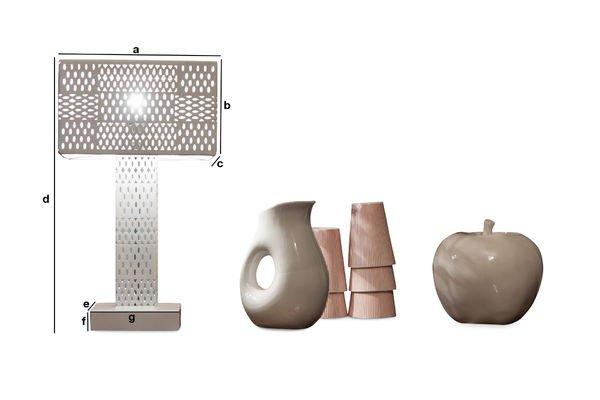 Dimensiones del producto Lámpara de mesa Raüma