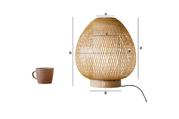 Dimensiones del producto Lámpara de mesa Skib