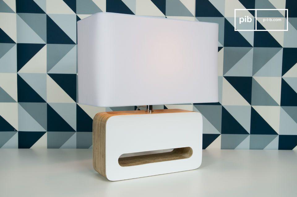 Lámpara de mesa Wood White